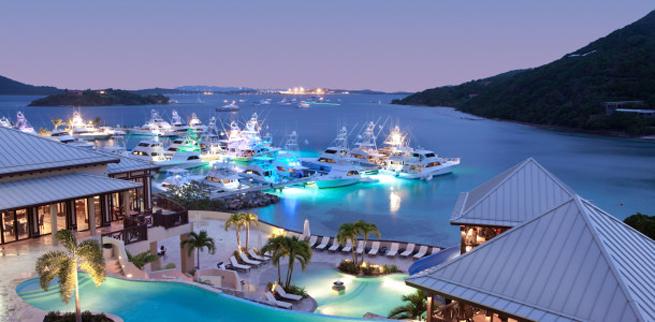 Scrub Island Resort & Marina at dusk