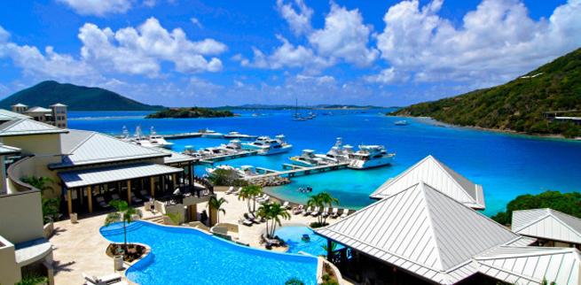 Pools and marina, Scrub Island Resort