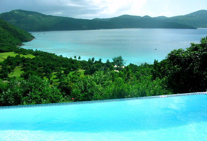 Pool at Harbour House on Guana Island
