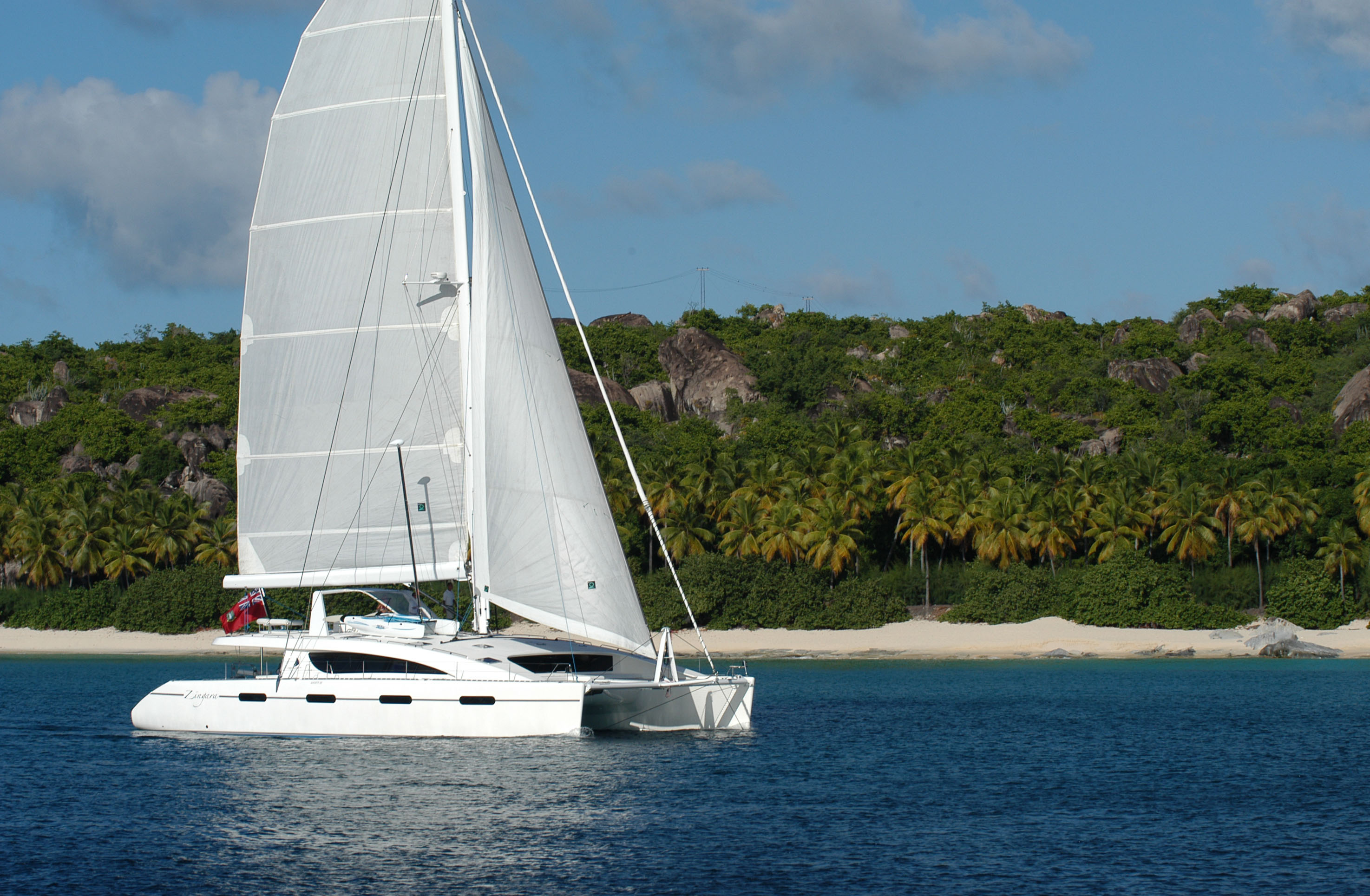 Sailing to Monkey Point on Guana Island