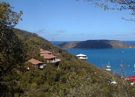 View of Seabreeze & Seaview villa on Virgin Gorda, BVI