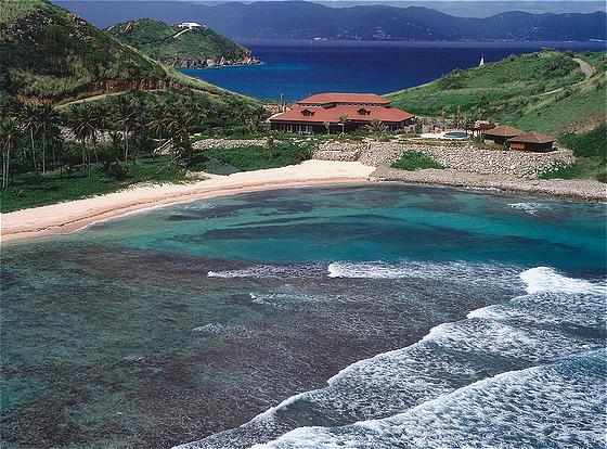 Aerial view of Peter Island Spa