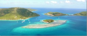 Antilles Helicopter Aerial photo of the BVI